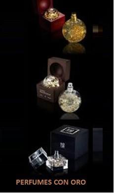 Perfumes con Oro