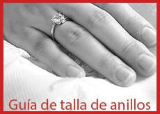 Guía de tallas de anillos